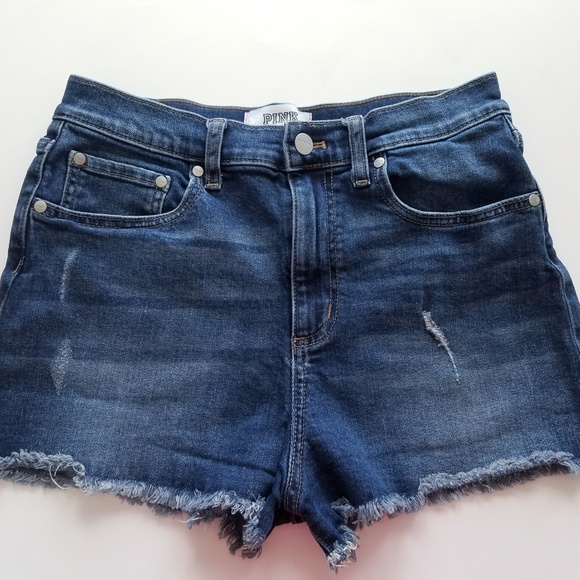 PINK Victoria's Secret Pants - VS Pink Sz 10 Distressed Denim Shorts
